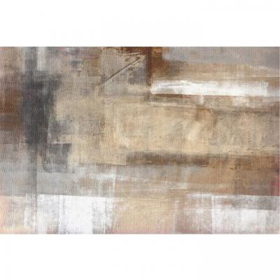Szőnyeg 80x150 cm, absztrakt, barna - TAIGA